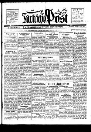 Türkische Post vom 25.01.1927