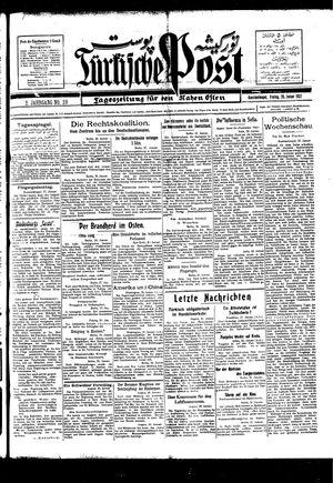 Türkische Post vom 28.01.1927