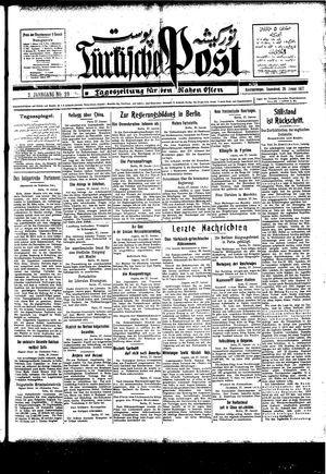 Türkische Post vom 29.01.1927