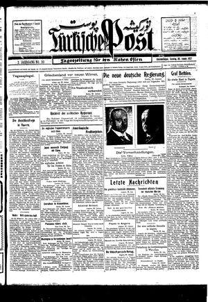 Türkische Post vom 30.01.1927