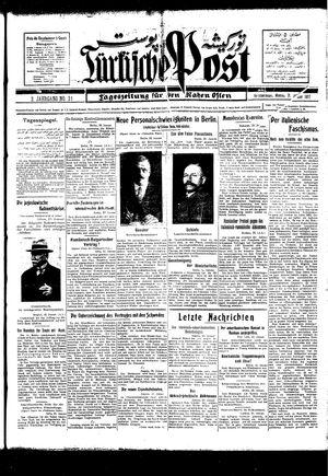 Türkische Post vom 31.01.1927