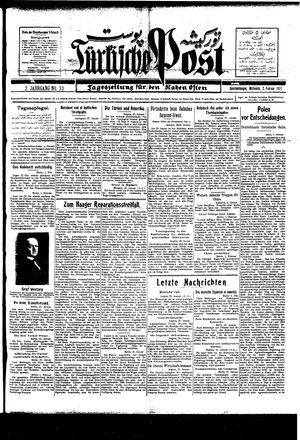 Türkische Post vom 02.02.1927
