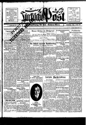Türkische Post on Feb 4, 1927