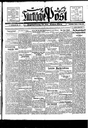 Türkische Post vom 08.02.1927