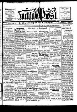 Türkische Post vom 09.02.1927
