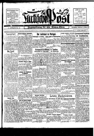 Türkische Post vom 10.02.1927