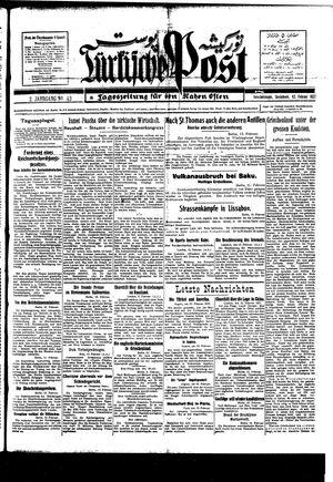 Türkische Post vom 12.02.1927