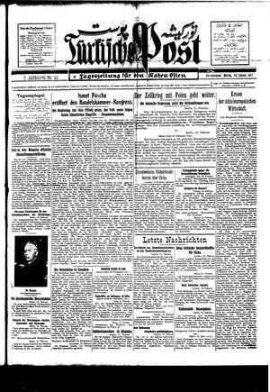 Türkische Post vom 14.02.1927