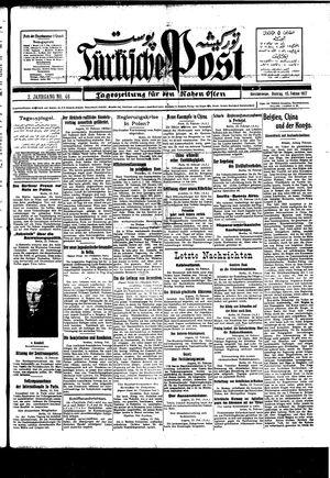 Türkische Post vom 15.02.1927