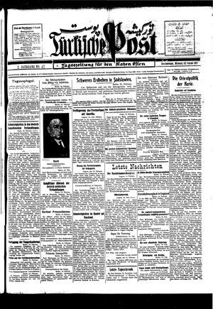 Türkische Post vom 16.02.1927