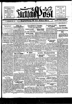 Türkische Post vom 21.02.1927