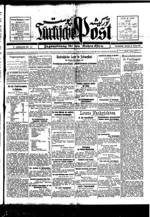 Türkische Post vom 22.02.1927