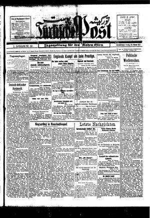 Türkische Post vom 25.02.1927