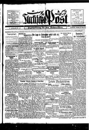 Türkische Post vom 26.02.1927