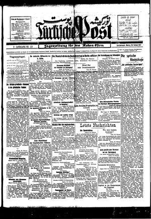 Türkische Post vom 28.02.1927