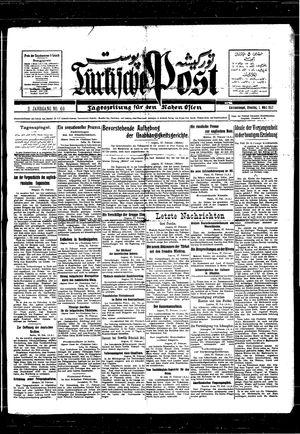 Türkische Post vom 01.03.1927
