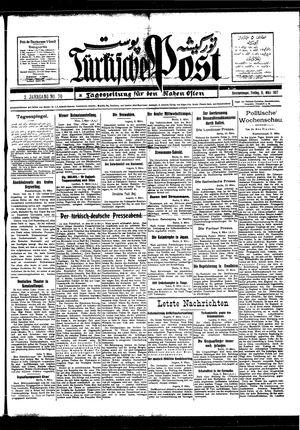 Türkische Post vom 11.03.1927