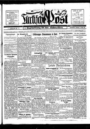 Türkische Post vom 12.03.1927