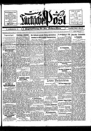 Türkische Post vom 13.03.1927