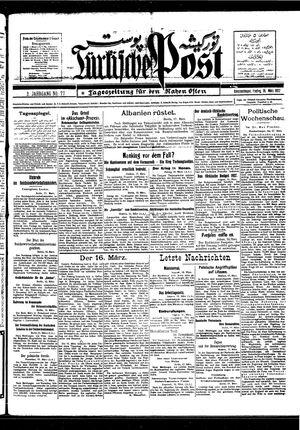Türkische Post vom 18.03.1927
