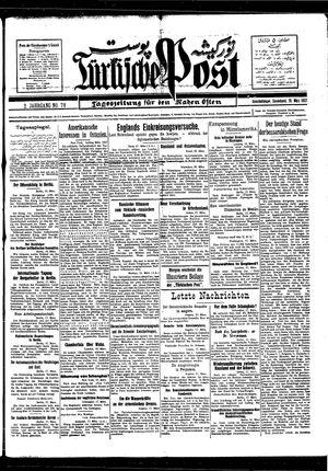 Türkische Post vom 19.03.1927