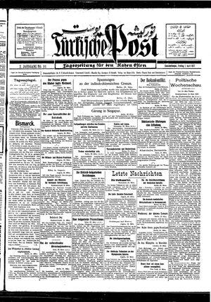 Türkische Post vom 01.04.1927