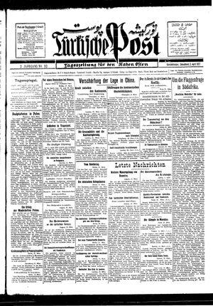 Türkische Post vom 02.04.1927