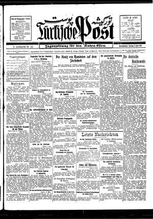 Türkische Post vom 03.04.1927