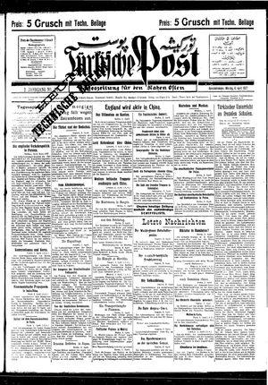 Türkische Post vom 04.04.1927