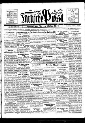 Türkische Post vom 07.04.1927