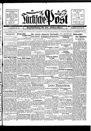 Türkische Post vom 08.04.1927