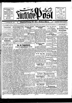 Türkische Post vom 16.04.1927