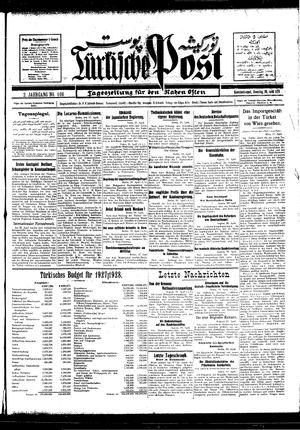 Türkische Post vom 19.04.1927