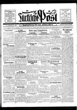 Türkische Post vom 20.04.1927