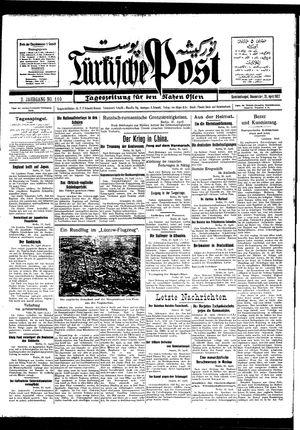 Türkische Post vom 21.04.1927