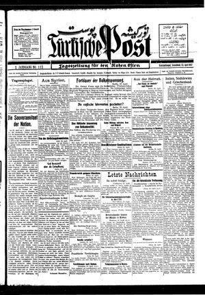 Türkische Post vom 23.04.1927