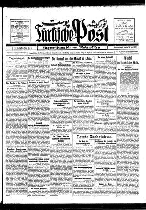 Türkische Post vom 24.04.1927
