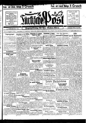 Türkische Post vom 25.04.1927