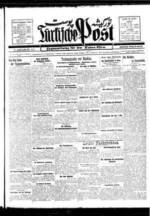 Türkische Post vom 26.04.1927
