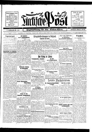 Türkische Post on Apr 27, 1927