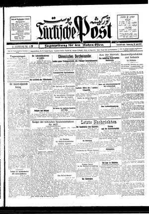 Türkische Post vom 28.04.1927