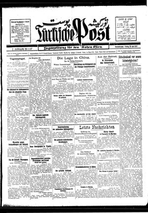 Türkische Post vom 29.04.1927