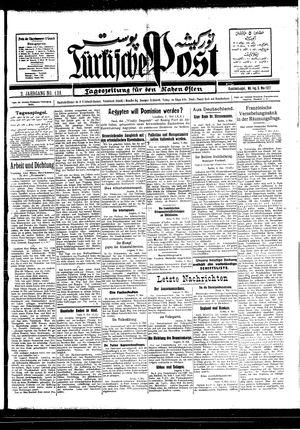 Türkische Post vom 09.05.1927