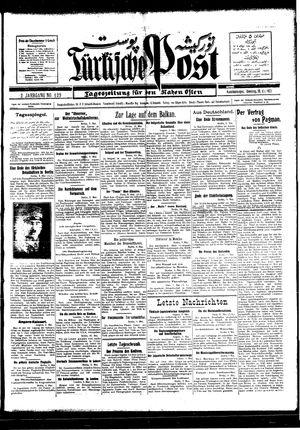Türkische Post vom 10.05.1927