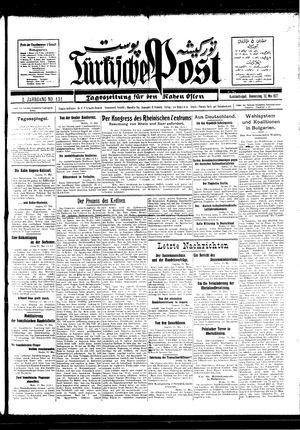 Türkische Post vom 12.05.1927