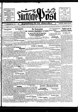 Türkische Post vom 14.05.1927