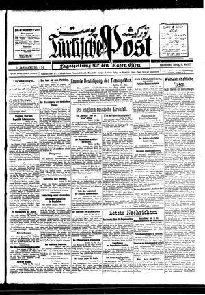 Türkische Post vom 15.05.1927