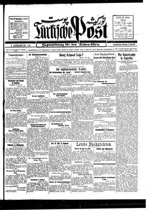 Türkische Post vom 17.05.1927