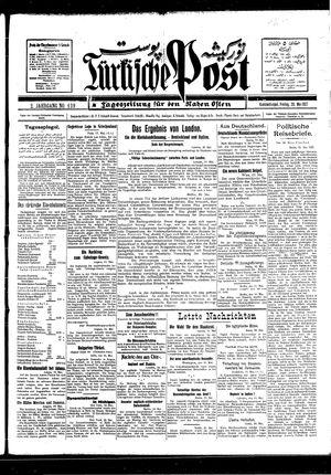 Türkische Post vom 20.05.1927