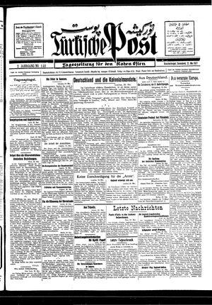 Türkische Post vom 21.05.1927
